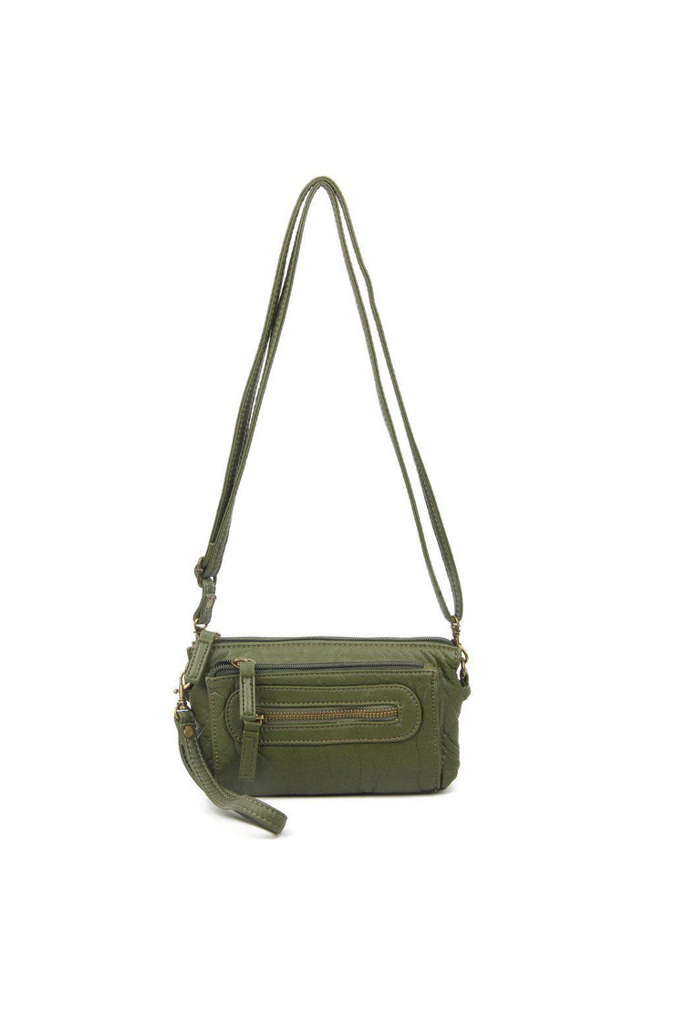 anita three way crossbody green
