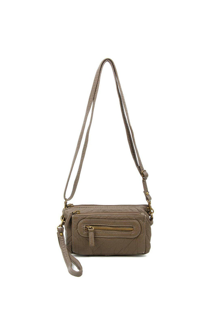 anita three way crossbody dark grey