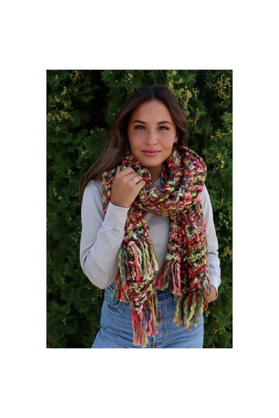 berry love woven scarf boho pretty boutique winter accessories gift