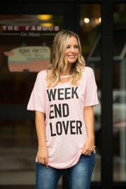 Weekend Lover Graphic Top