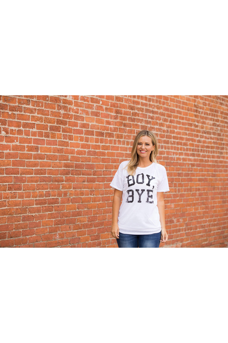 Boy Bye Graphic Top - bohopretty.com