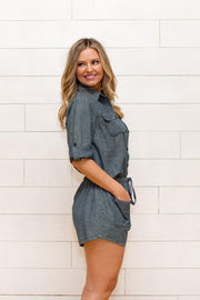 Exploring Denim Romper