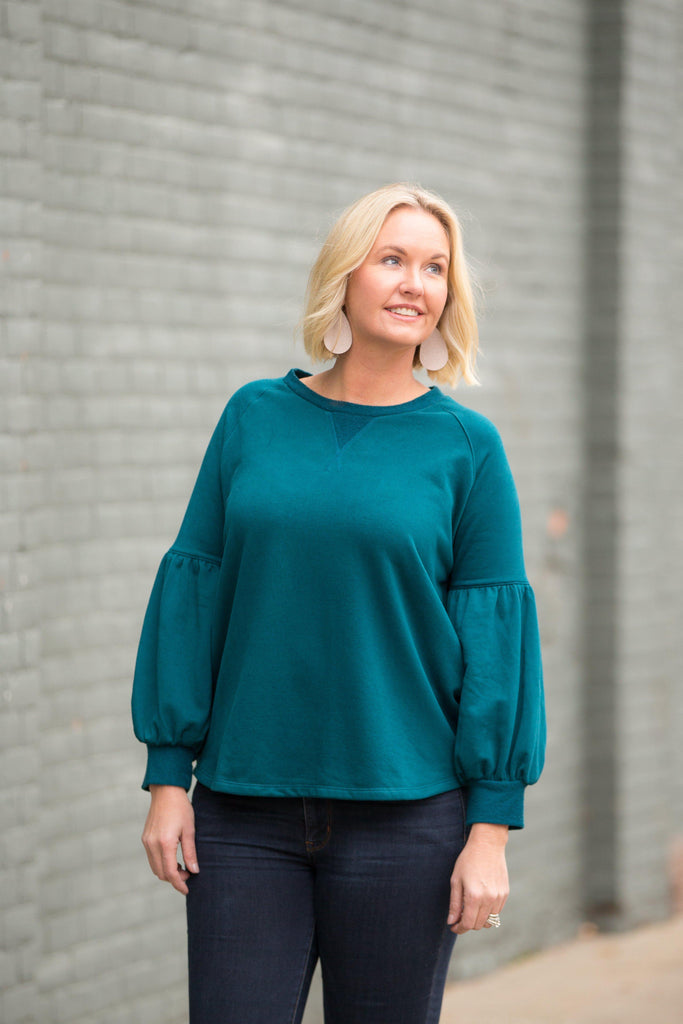 Up and Away Top - Teal