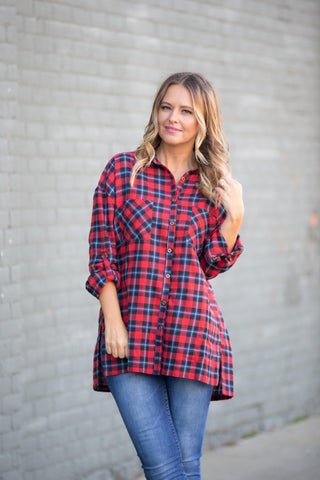 Party In Plaid Tunic