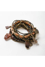 boho stone stack bracelet boho pretty online womens accessories