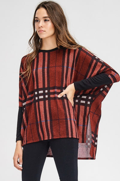 box fit plaid, long sleeve, boho pretty, womens fashion