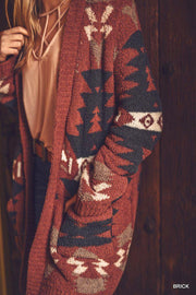 Tribal cozy cardigan boho boutique
