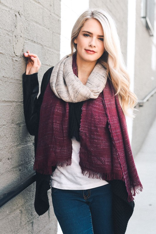 burgundy, ombre, scarf, two tone, boho pretty, womens fashion.jpg
