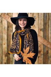 camel deb leopard scarf boho pretty boutique online women fall winter accesories gifts