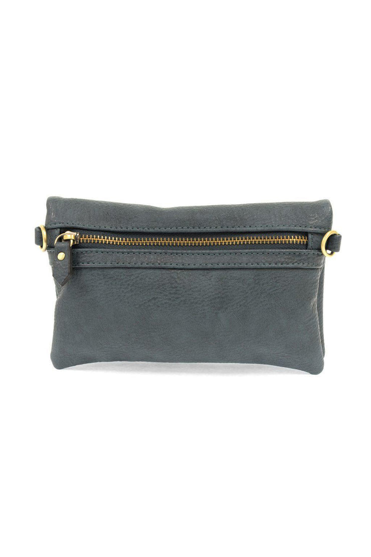 "It's just the right size for carrying all your essentials. Features three zip compartments, 6 credit card slots and a license pocket. Style it with either the slender wristlet strap or slim  Made With Vegan Leather.  8"" W x 5""H x 1.5""D 11-23"" Crossbody Strap Drop 6 Credit Card Slots and License holder 3 Zippered Compartments"