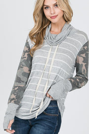 cowl neck, color block, camo, stripes, womens fashion, boho pretty