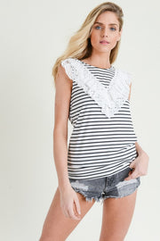 Frills Stripe Top