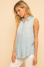 Light weight, Soft, Tencel, Denim, Top, Summer Top, Summer Outfit, Boutique, Boho PRetty, Online Shop