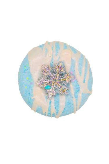 holographic snowflake bath bomb boutique stocking stuffer
