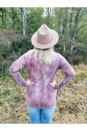 Vintage Tie Dye Long Sleeve Top