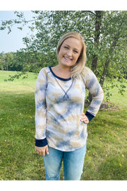 Crossroads Long Sleeve Tie Dye Top