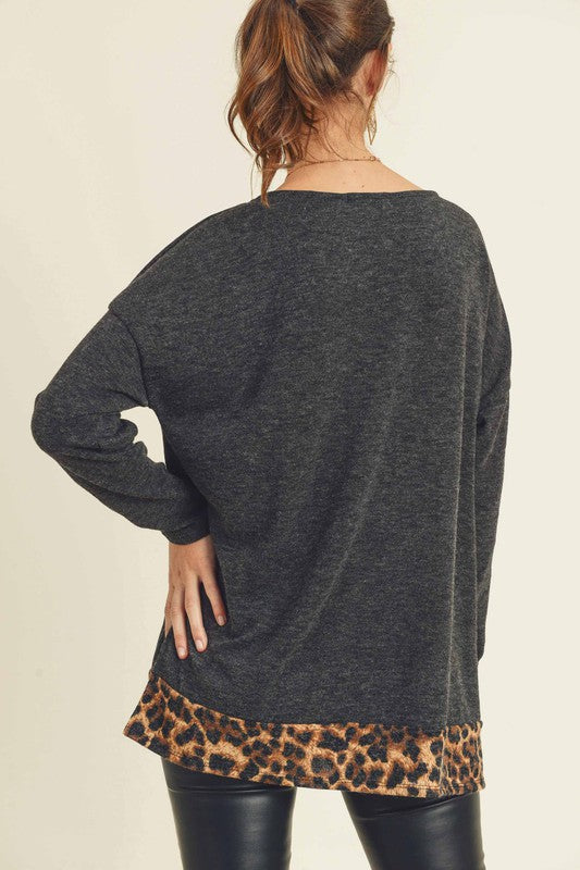 Leopard Nights Top