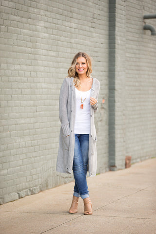 Morning to Midnight Sweater - Heather Grey