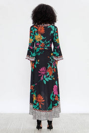 maxi dress, black, floral, bell sleeves, boho pretty, womens fashion.jpg