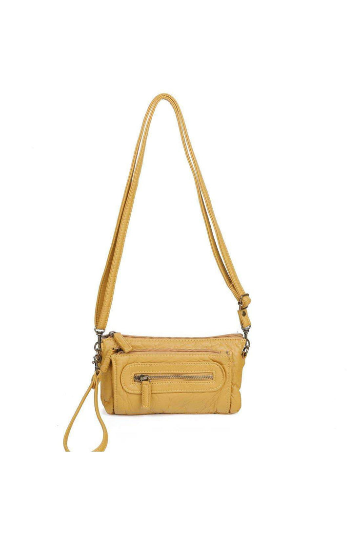 anita three way crossbody mustard