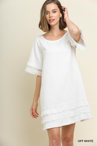 Coconut Fringe Dress - bohopretty.com