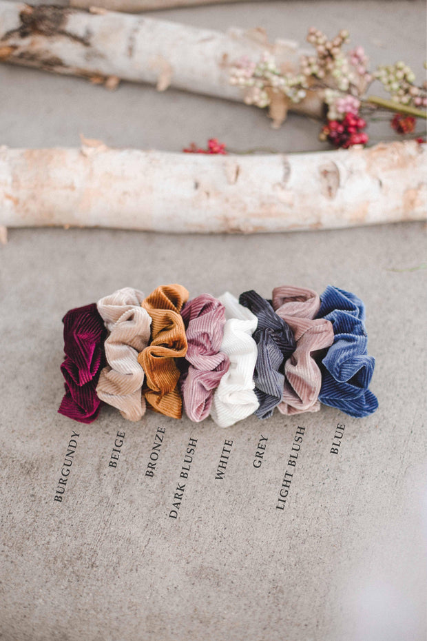 Velvet holiday boutique scrunchie hair tie