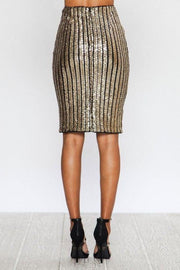 sequin skirt, bodycon, gold, party attire, holiday vibes, womens fashion, boho pretty.jpg
