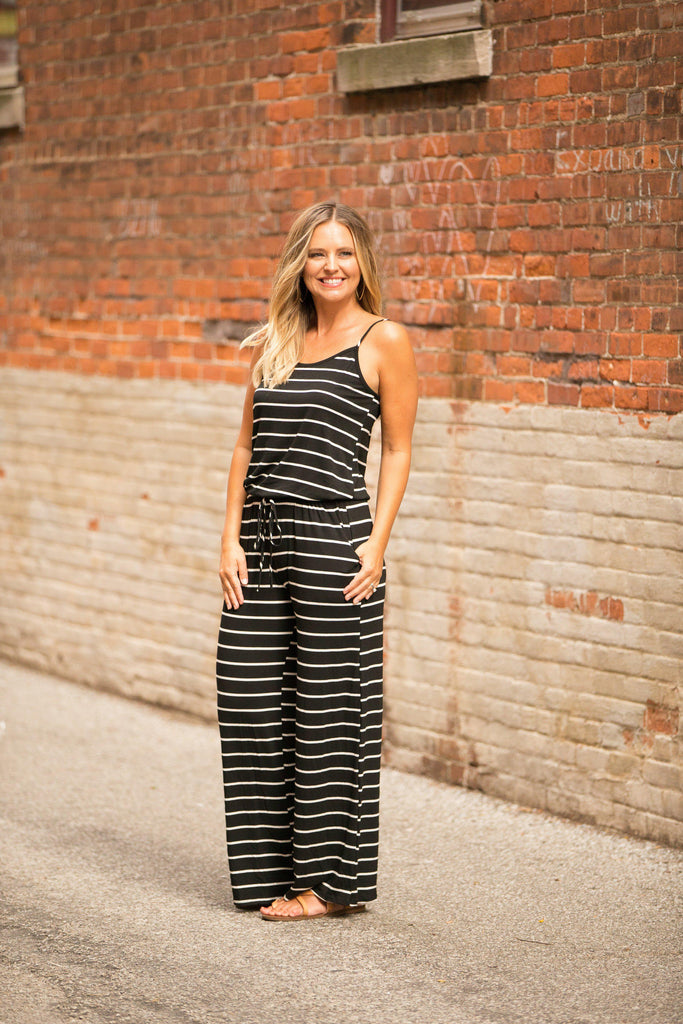 Stripes All The Way Jumpsuit