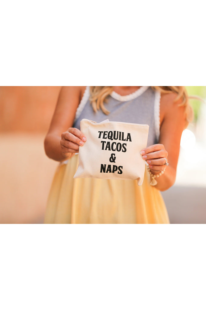 Tequila Tacos and Naps Makeup Bag