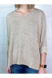 Simple And Chic V-Neck Sweater