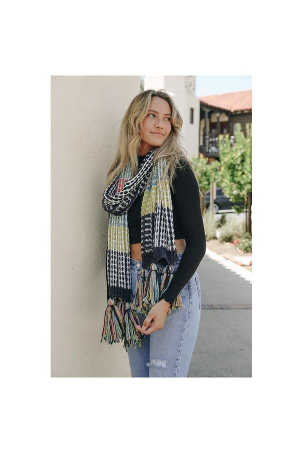 Colorful Colorblock Scarf - bohopretty.com
