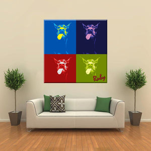 Four Square Pop Pet Art