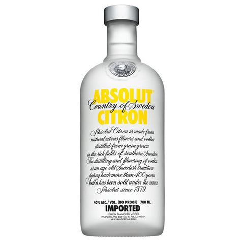 Absolut Citron Vodka (750ml)