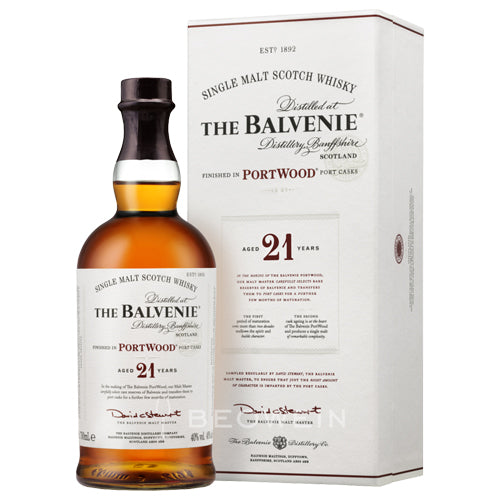 Balvenie 21 Year Old Portwood Single Malt Scotch Whisky (750ml)