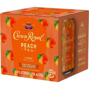 Crown Royal Peach Tea 4-12oz Cans