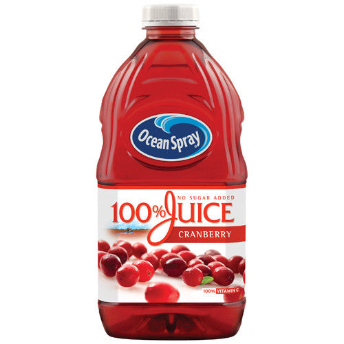 Ocean Spray Cranberry 100% Juice No Sugar Added (64 oz)