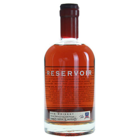 Reservoir Straight Rye Whiskey (750ml)