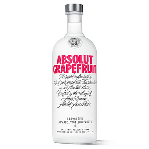 Absolut Grapefruit Vodka (750ml)