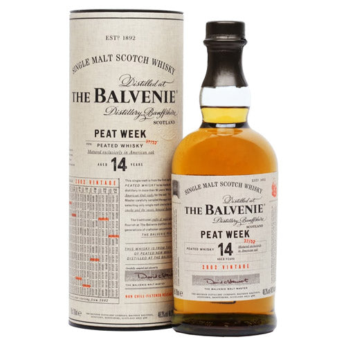 Balvenie 14 Year Old Peat Week Single Malt Scotch Whisky (750ml)