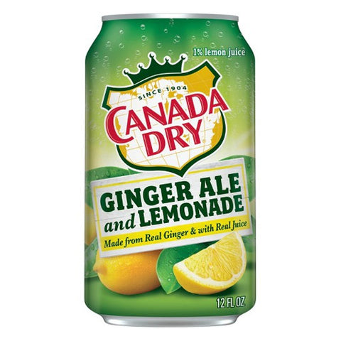 Canada Dry Ginger Ale & Lemonade (12pk 12oz cans)