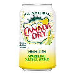 Canada Dry Lemon Lime Sparkling Seltzer Water (8pk 12oz cans)