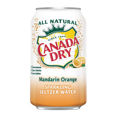 Canada Dry Mandarin Orange Sparkling Seltzer Water (8pk 12oz cans)