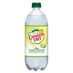 Canada Dry Diet Tonic w/Twist of Lime (single 1L bottle)