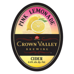 Crown Valley Pink Lemonade Cider (6pk 12oz btls)