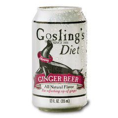 Gosling's Diet Ginger Beer (Single 12oz can & 6pk 12oz cans)