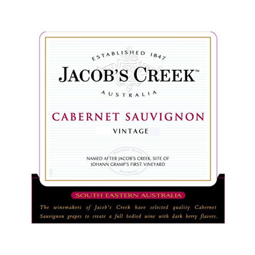 Jacob's Creek Cabernet Sauvignon, South Eastern Australia, 2014 (1.5L)