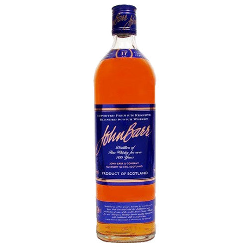 John Barr Blended Scotch Premium Reserve Blue Label 17yr