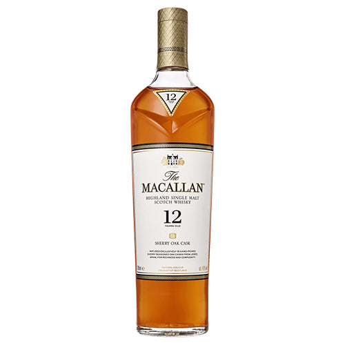 Macallan 12 Year Highland Single Malt Scotch Whisky Sherry Oak Cask (750ml)