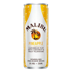 Malibu Pineapple Ready to Drink 4pk (200ml Cans)
