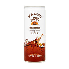 Malibu Cola Ready to Drink 4pk (200ml Cans)